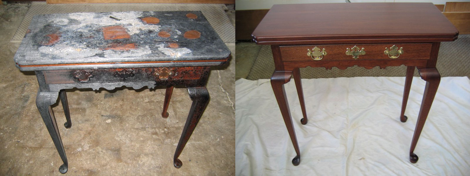 Antique restoration Michigan professional furniture